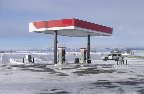 Gas Station Snow